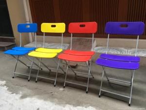 Ghế gấp Nan nhựa chân sơn tĩnh điện. Mới 100%