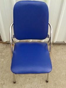 Ghế gấp da lưng cao chân inox hàng cũ còn đẹp 80%