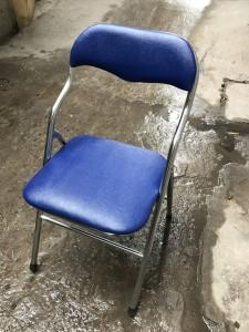 Ghế gấp chân inox da xanh Hoà phát thanh lý mới 90%