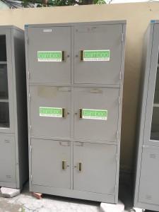 Tủ để hồ sơ locker 6 ngăn hoà phát giá rẻ