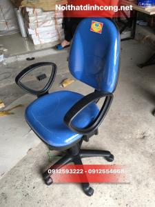 Ghế xoay Hoà phát SG550 màu xanh Có tay (Mới 100%)