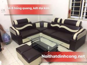 Ghế sofa da góc giá rẻ Nâu đen  giá 1,9 triệu