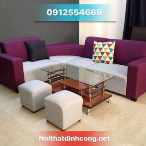 Sofa góc nỉ cao cấp mới 100% giá rẻ