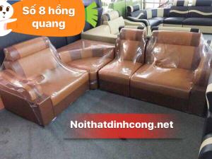 Sofa góc màu da bò giá rẻ mới 100%
