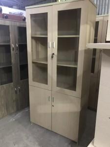 Tủ hồ sơ gỗ 2 cánh kính màu fami mới 90% Giá rẻ (cũ)