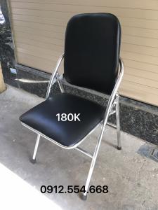 Ghế gấp Hòa phát khung mạ inox lưng dài thanh lý ( Cũ )